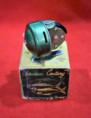 Three Antique Fishing Reels, Zebco and Johnson Century, All in Boxes