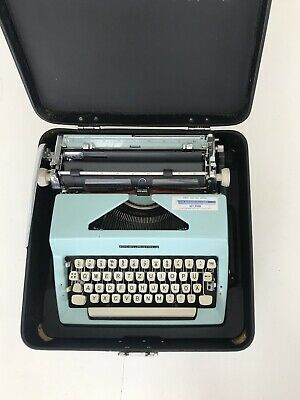 Vintage Working Typewriter Olympia Colortip-S Beautiful Colour