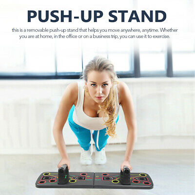 Push Up Rack Board Fitness Workout Train Gym Muscle Exercise Pushup Stands F6C6