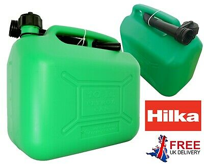 Green Plastic Fuel Can 10 L Litre Oil Petrol Can Cannister With Flexible Spout