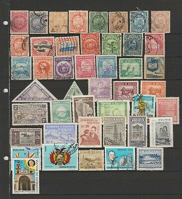 Bolivia, nice lot of stamps all different