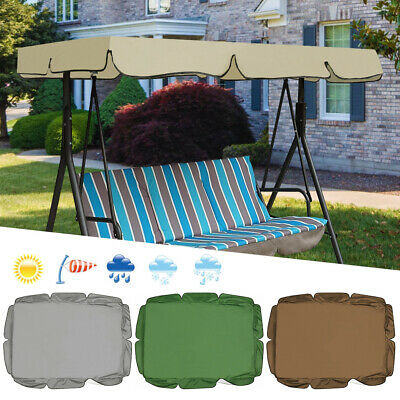Garden Swing Chair 2&3 Seater Patio Canopy Hammock Cushioned Bench Lounger Top