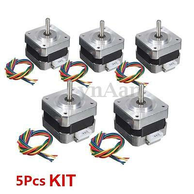 5PCS NEMA 17 Stepper motor Kit 12V For CNC Reprap 3D printer extruder 28Ncm