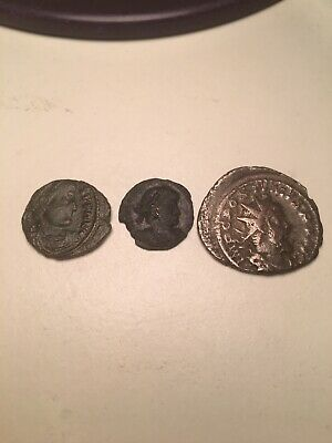 Roman Coins Lot Constantine Antoninianus And 4th Century Coin With Spears