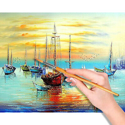 Large Sailboat Canvas DIY Oil Painting Paint by Numbers Kit No Frame Home Art