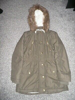 Green Girls Parka from George at Asda Age 8-9...seldom worn