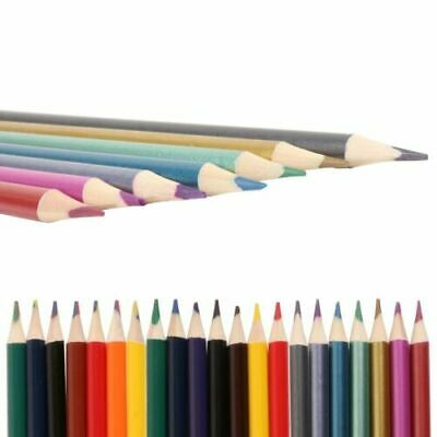24 x Colouring Pencils Set Drawing Artist Kids+FREE KIDS Colouring Book 140 PAGE