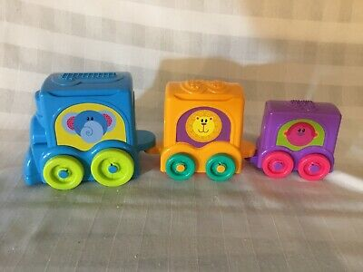 Fisher Price Growing Baby Stack & Roll Choo Choo Train Nesting Toy Zoo Animals