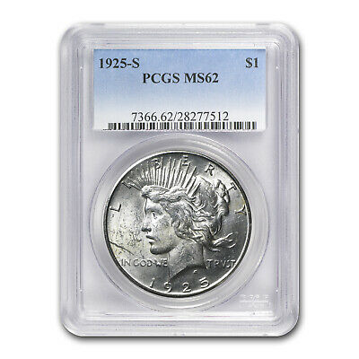 1925-S Peace Dollar MS-62 PCGS - SKU #75796