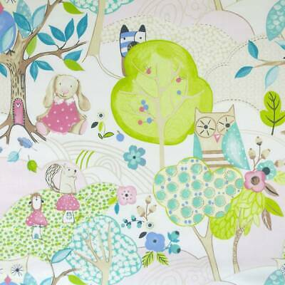 2.2m of Woodland Friends - Rose (FABRIC CLEARANCE SALE)