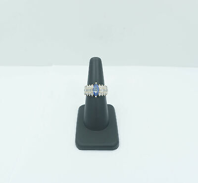 1.64 Carat Marquise Tanzanite & Diamond Ring - 14k Yellow Gold