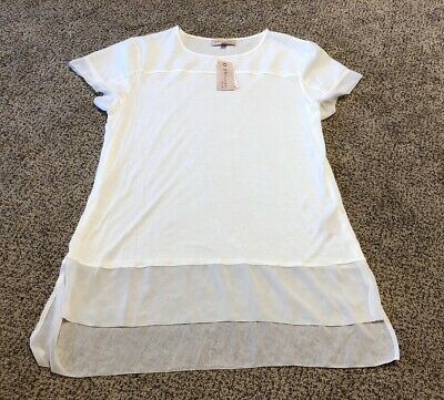 Women's Philosophy Republic Clothing White Top Tunic Large