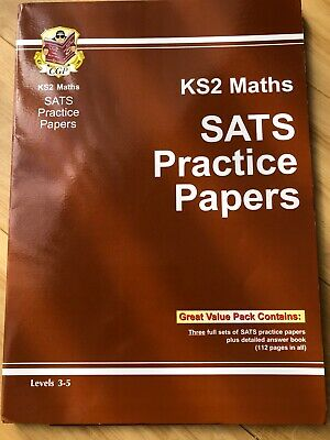 CGP Key Stage Two Maths SATs Practice Papers Levels 3-5 Home Schooling