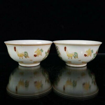 china Ming chenghua mark old Porcelain doucai chicken teacup bowl /Wc02