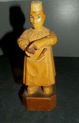 """Vtg Anri Hand Carved""""Heart Surgeon/Doctor"""" Wood Statue/Figurine! Made In Italy"""