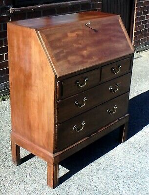 1960s vintage Arts & Crafts Gordon Russell solid mahogany military bureau desk