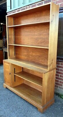 Midcentury Arts & Crafts style Cotswold School joined solid oak library bookcase