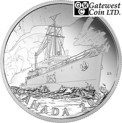 2016 'Patrol Against U-Boats-Home Front' Proof $20 Silver Coin .9999 (17584)(NT)