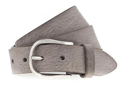 Vanzetti 35mm Full Leather Belt W100 Mouse Gray
