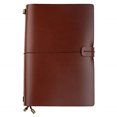 Ancicraft Travelers Notebook A5 Refillable Leather Journals Diaries for Men with