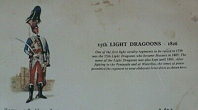 15th Light Dragoon 1826, on Courage Pub Bar Menu 1960 - Fish,Chips and Peas 8/-!