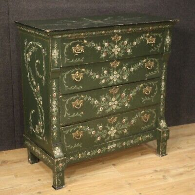Dresser Dresser Furniture Wooden Lacquered & Painting Antique Style Cupboard 900
