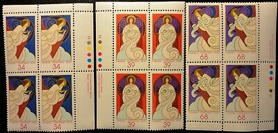 "Canada Stamp Sc #1113-1115 ""Christmas Angels 1987"" Mnh 3-Block Set"