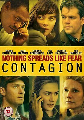 Contagion (DVD, 2012) Matt Damon Kate Winslett Global Virus Pandemic Drama VGC!!