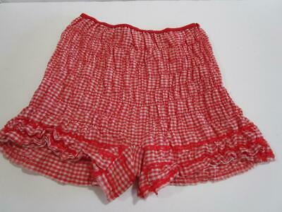 VTG Pettipants Bloomers Lace Square Dance Rockabilly Pin Up Panties Red Plaid S