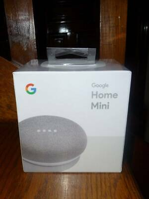 GOOGLE HOME MINI Smart Speaker Chalk GA00210-US Google Assistant NEW SEALED