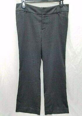 Mossimo Woman's Size 14 Tweed Style Warm Winter Career Pant Dark Gray Stretch