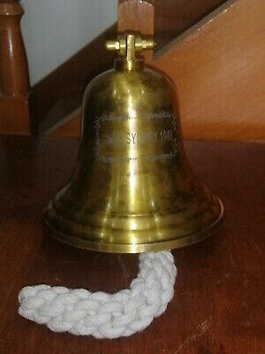 COLLECTABLE HMAS SYDNEY 1948 SOLID BRASS DOOR Bell ..