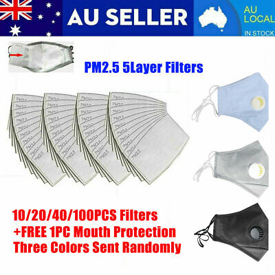PM2.5 5layer Anti Dust Cotton Filter Replacement Set Fit Adult
