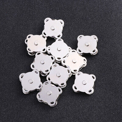 20PCS Magnet Buckle Plum Blossom Magnetic Clasp Sturdy Magnetic Clasp for Sewing