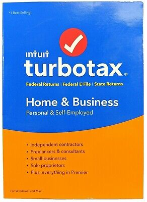 Turbotax Home & Business Federal+State 2018 Tax Year Disc CD Windows+Mac New