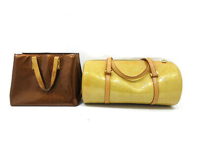 Authentic 2 Item Set LOUIS VUITTON Vernis Hand Bag Patent Leather 82782