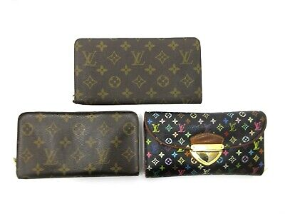 Authentic 3 Item Set LOUIS VUITTON Monogram Long Wallet PVC Leather 82829