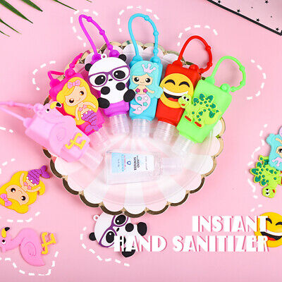 30ml Gel Hand Sanitizer Antibacterial Disinfection with Cartoon Silicone Holder