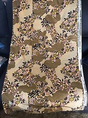 Vintage Curtain Fabric 5mtrs - Cohama - River Flowers