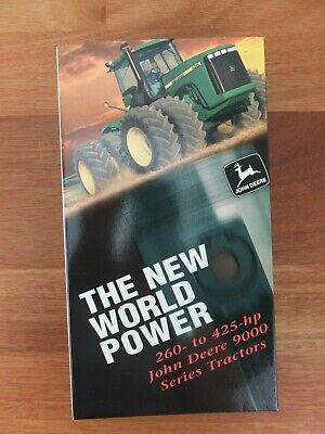 JOHN DEERE VHS The New World Power 260 to 425hp 9000 Series Tractors RARE