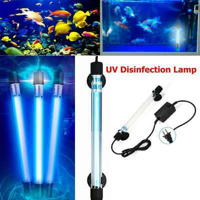 110V/220V Aquarium Submersible UV Light Sterilizer Light Germicidal Light US