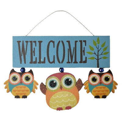French Country Vintage Wooden Plaque Barn Owl HOME LIFE TAKES YOU Sign New