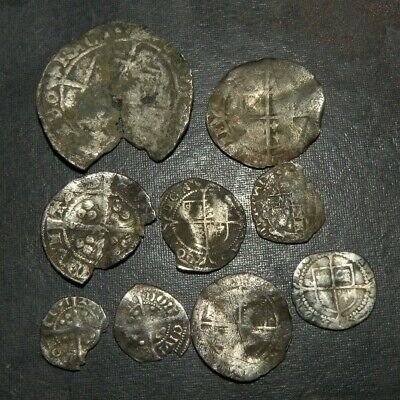 Medieval Silver Coins 1200's AD Crusader Templar Long Cross Lot Ancient Britain