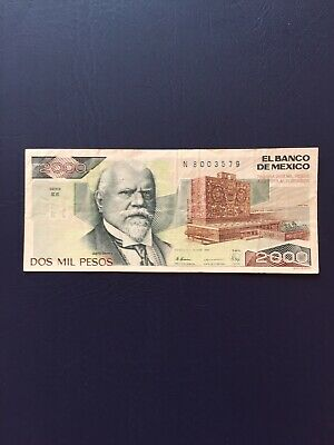 Mexican Peso 2k Denomination Bank Note. Ideal For Collection.