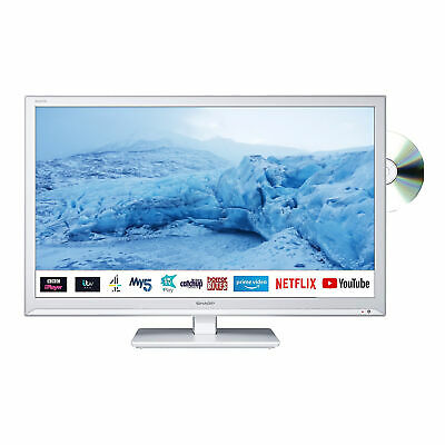 "Sharp 24"" Inch HD Ready LED Smart TV with Built-In DVD Player and Freeview Play"