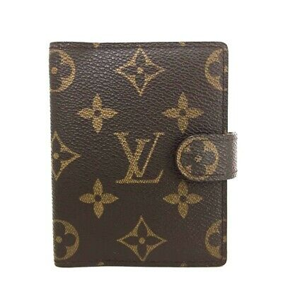 100% Authentic Louis Vuitton Monogram Mini Agenda Notebook Cover /ee247