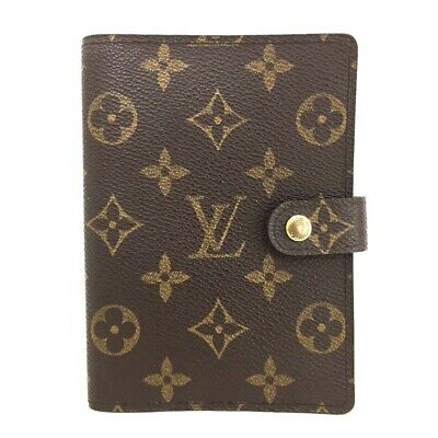 100% Authentic Louis Vuitton Monogram Agenda PM Notebook Cover /ee261