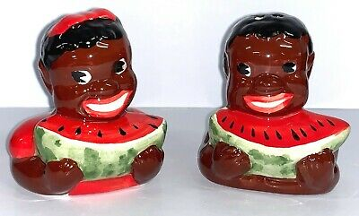 Collectable Novelty Americana Africana Mammy Salt & Pepper Shakers - New.