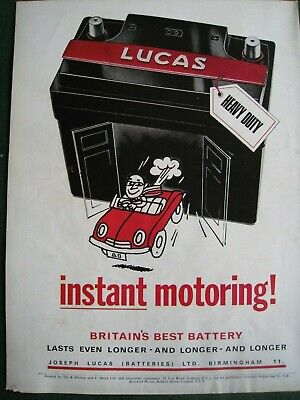 Lucas Heavy Duty Battery 1968 Poster Advert Ready To Frame A4 File M