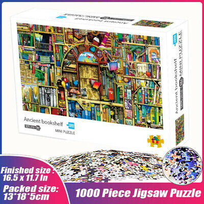 Ancient Bookshelf 1000 Piece Jigsaw Puzzle Adult Family Decompression Games Toys